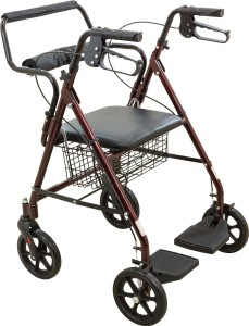 roscoe medical transport rollator chair seat front